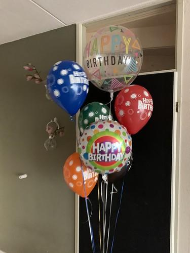 Ballonboeket Verjaardag Bont Gekleurd