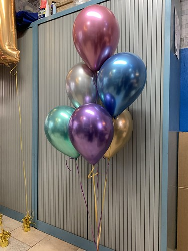 Tafeldecoratie 6ballonnen Chrome Ballonnen