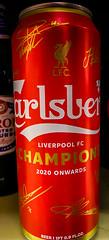 Carlsberg Pilsner Liverpool FC Champions 2020 Limited Edition - Copenhagen Denmark