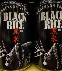Anderson Valley Black Rice Ale - Booneville CA