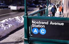 Bedford Av Entrances to Nostrand Av AC Subway Station Reopened