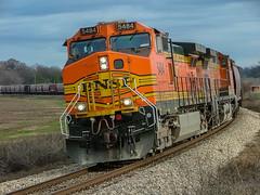 BNSF 5484 (C44-9W) Grain Train Walls, Mississippi