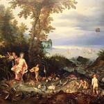 Jan Brueghel il Vecchio, detto anche Bruegel dei Velluti (Bruxelles, 1568 – Anversa, 12 gennaio 1625) - Allegoria dell'acqua (1611) - oil on panel 54.9 x 94 cm cm -  Galleria Doria Pamphilj. Roma - https://www.flickr.com/people/94185526@N04/
