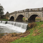 Bridge over Brocket Hall Lake by Stafford Steed