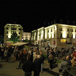 Inauguration de l'éclairage des façades sur la Place du 1er Août - 2007