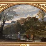 Annibale Carracci (Bologna, 3 novembre 1560 – Roma, 15 luglio 1609) - Paesaggio con la Fuga in Egitto (1604 -1613) - olio su tela 122 x 230 cm - Galleria Doria Pamphilj, Roma - https://www.flickr.com/people/94185526@N04/