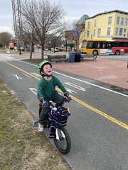 Sawyer had a rollicking good time on our bike ride last weekend (excepting the uphill parts)