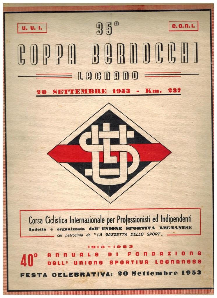 35° Coppa Bernocchi 1953