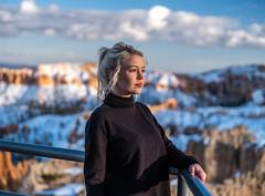 Pretty Woman Model 45SURF Beautiful Goddess! Bryce Amphitheater Hoodoos Bryce Canyon National Park Winter Fuji GFX100 Utah Fine Art Landscape Photography! Master Medium Format! Fujifilm GFX 100 & FUJINON Fujifilm GF 45-100mm F4 OIS Mid Range Zoom Lens!