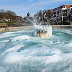 Icy Pool and Fountain by rachel Dunsdon