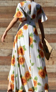 Sunflower dresses for spring!