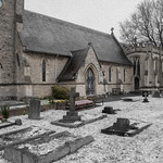 St Johns Church Lemsford in Snow by Richard White