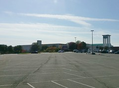 Parking lot at the upper level