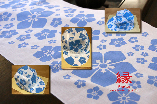 Photo:お客様お持込作品→ For customer's bringing in cloth, this work can't be sold. By jun.skywalker (enishi hand made cyclecap)