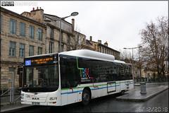 Man Lion's City CNG – Keolis Bordeaux Métropole / TBM (Transports Bordeaux Métropole) n°1607