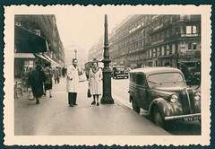 Parisian street view, 1955