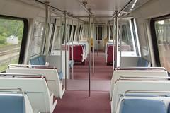Interior of WMATA railcar 5134