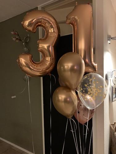 Ballonboeket Verjaardag 31 Jaar