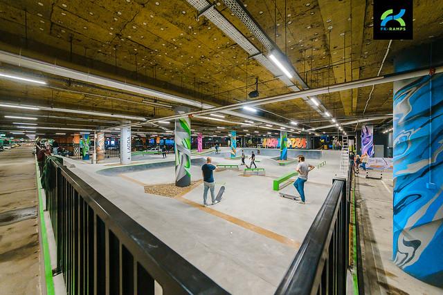 Photo:2020 - Бетонный скейт парк МЕГА-Екатеринбург | Roofed skatepark on a parking lot in Yekaterinburg By fkramps