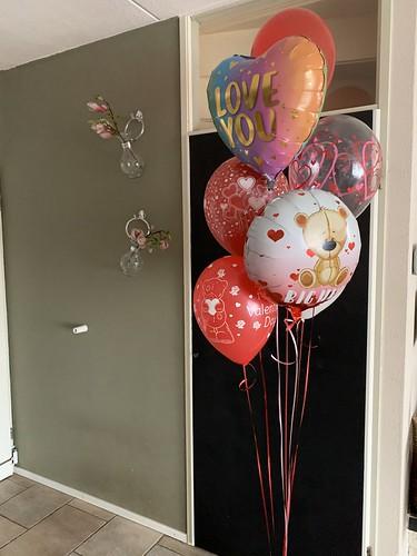Ballonboeket Valentijnsdag