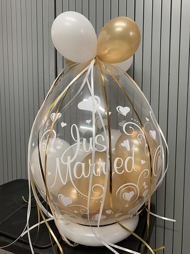 Kafoballon Just Maried Huwelijk