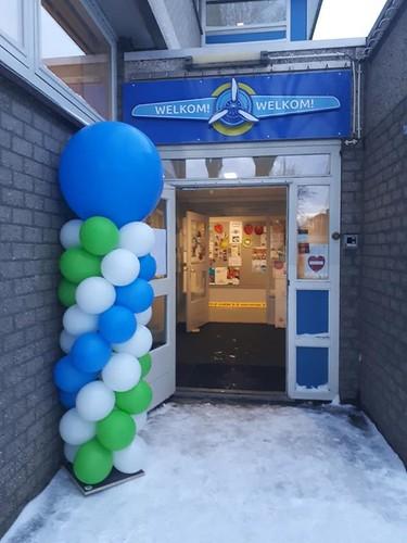 Ballonpilaar Breed Rond Albert Plesmanschool Rotterdam
