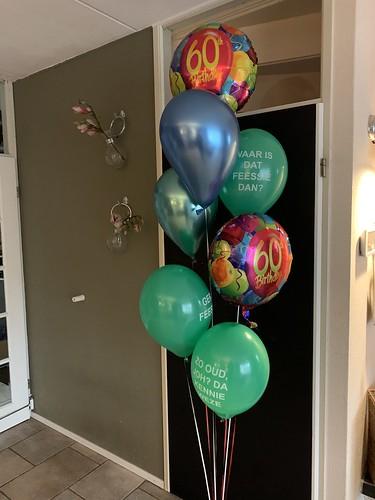 Ballonboeket Verjaardag 60 Jaar Rotterdam Ballonnen