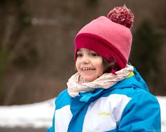 Le sourire d'un enfant à la neige...