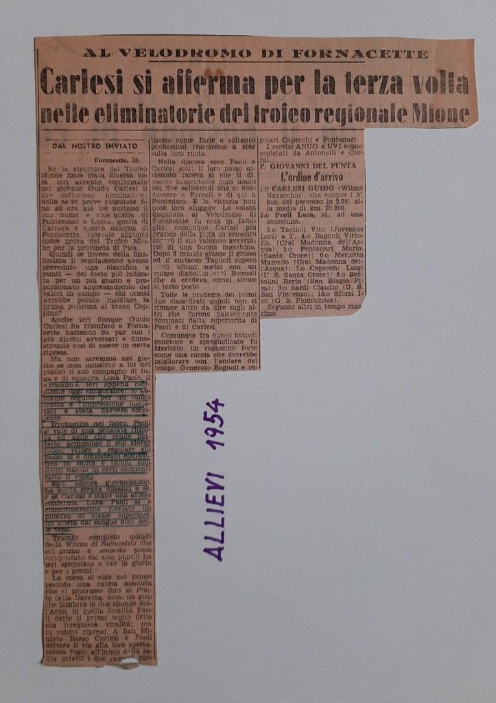 51a) 1954 1°Carlesi 2°Paoli