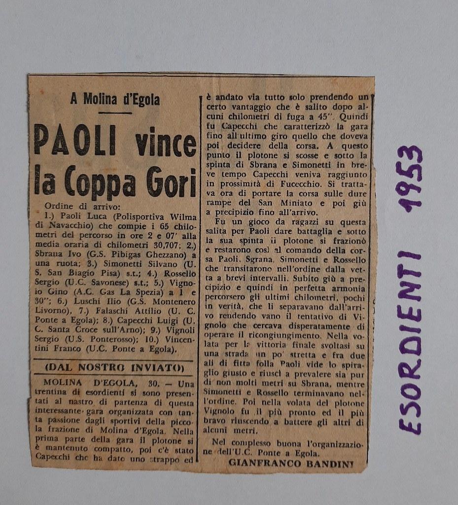 53e)  1953  1°Paoli