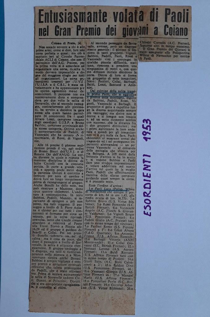 52e) 1953  1°Paoli