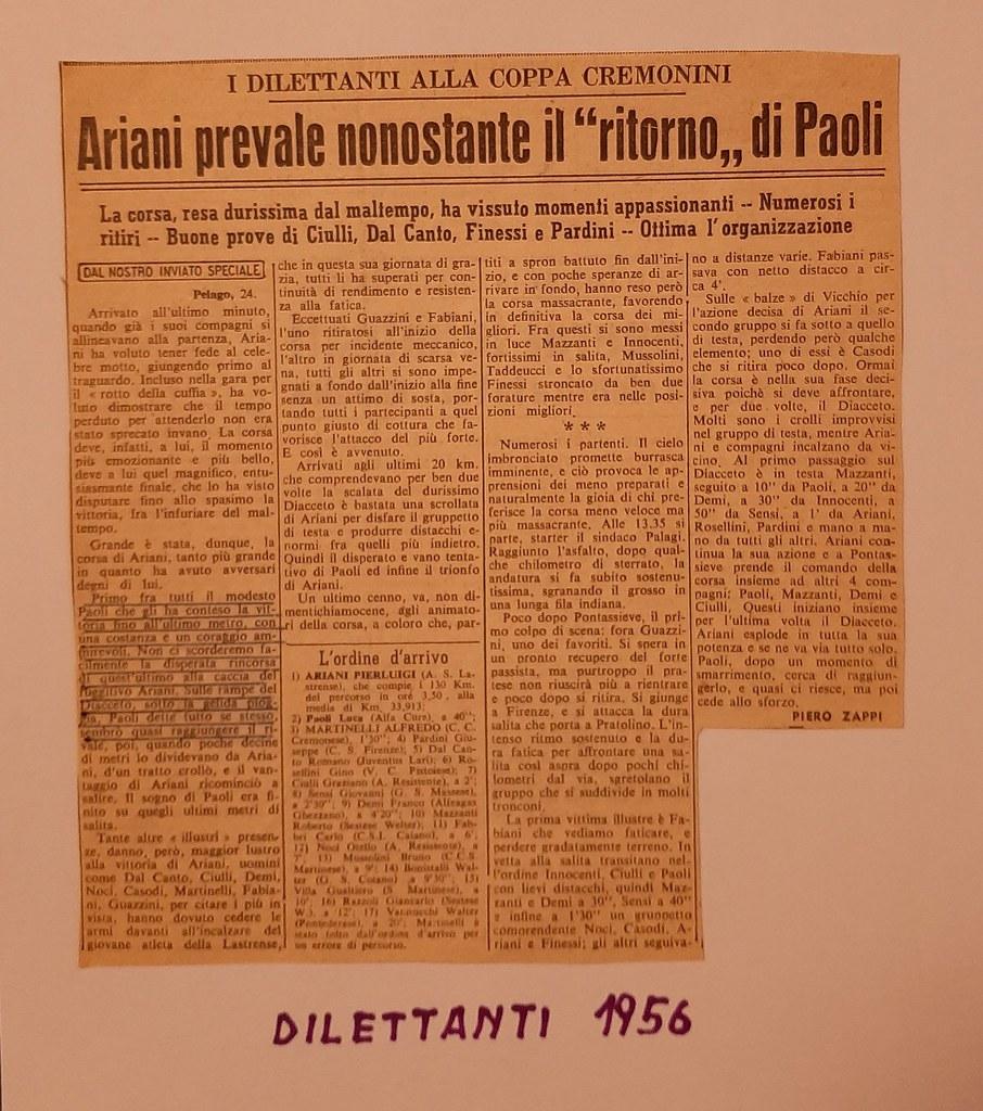 51d) 1956 1°Ariani 2°Paoli