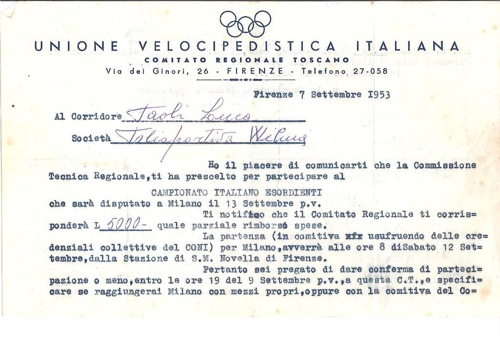 54e Convocazione camp. italiani