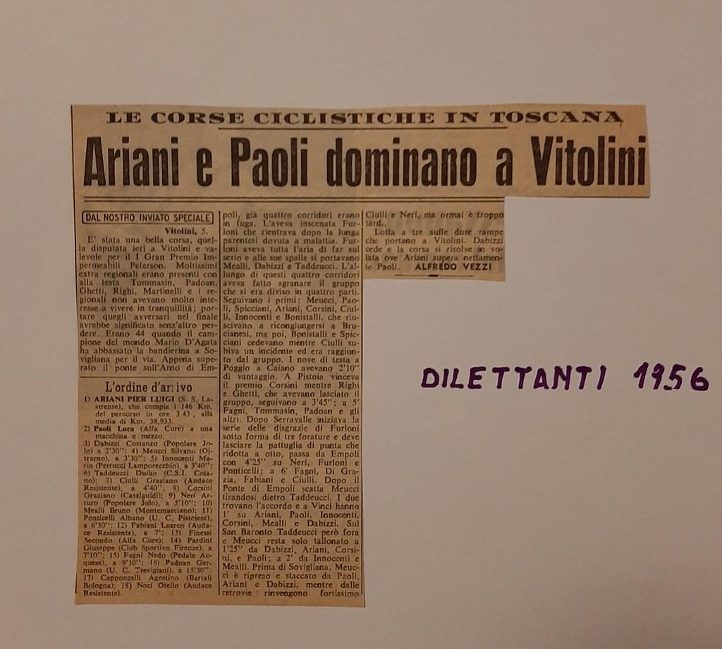 52d) 1956  1°Ariani  2°Paoli