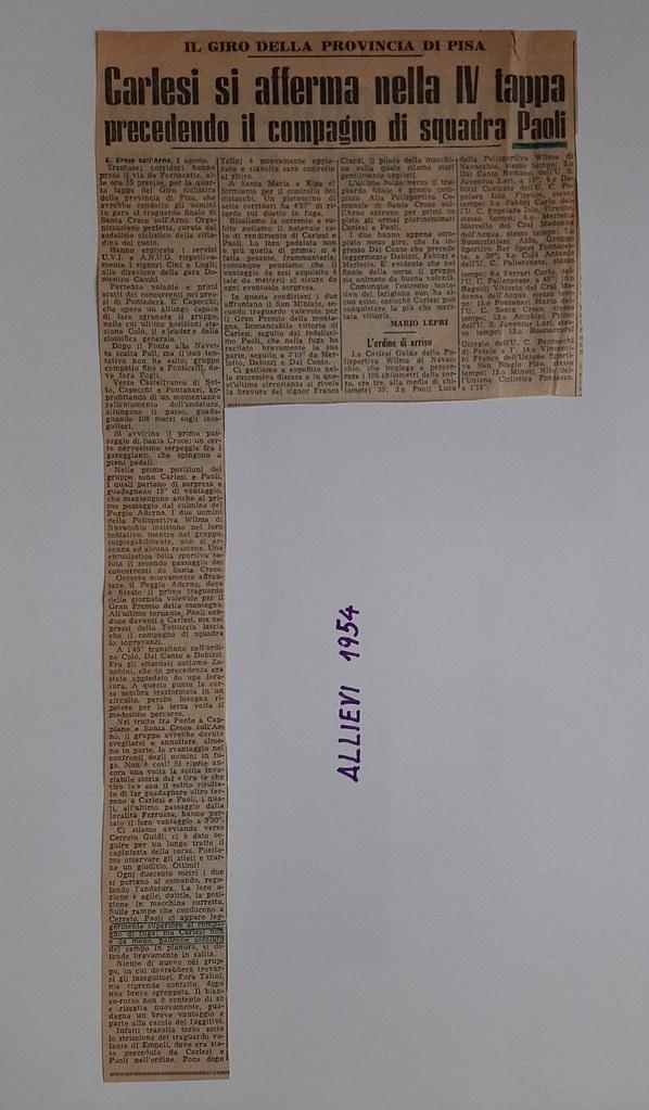 50a) 1954   1°Carlesi 2°Paoli