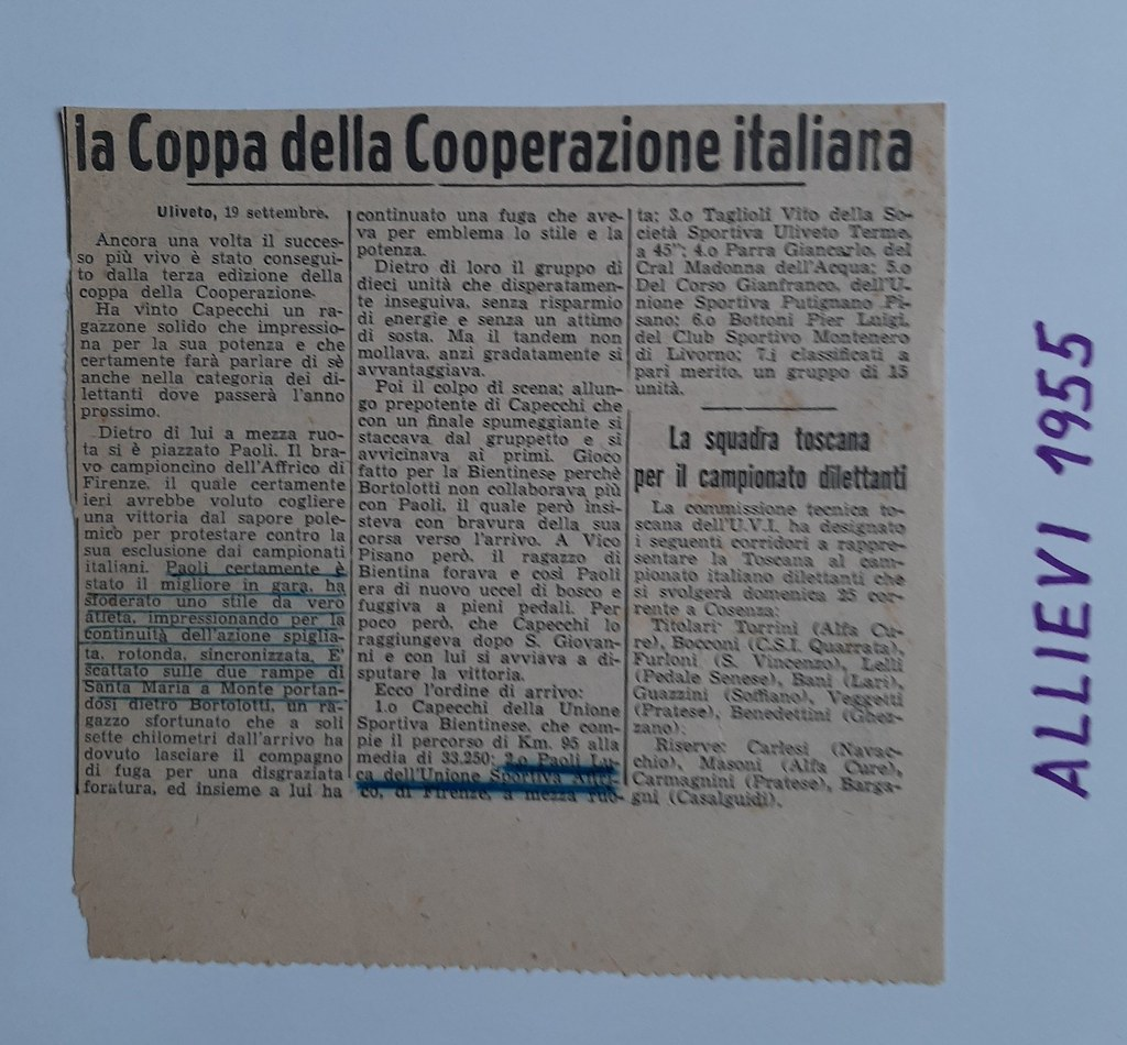58a) 1955  1°Capecchi  2°Paoli