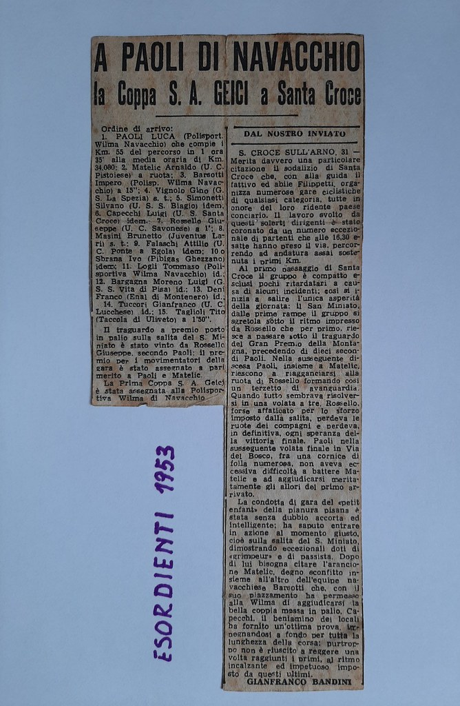 50e) 1953  1°Paoli