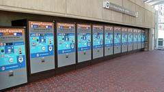 Farecard machines at Morgan Boulevard station
