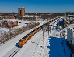 BNSF 6164 (ES44AC) NS Train:732 University of Memphis Memphis, Tennessee