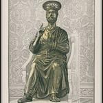 s0460a 8207 Brock14A1B  Altchristliche Kunst. I. Bronzestatue des Apostels Petrus in der St. Peterskirche zu Rom. Brockhaus Konversationslexikon. 14. Auflage 1. Band. 1892. - https://www.flickr.com/people/76740876@N07/