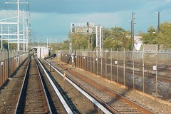 Metro and CSX tracks in Northeast DC