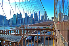 Brooklyn Bridge Traffic & Lower Manhattan View New York City NY P00810 DSC_0002