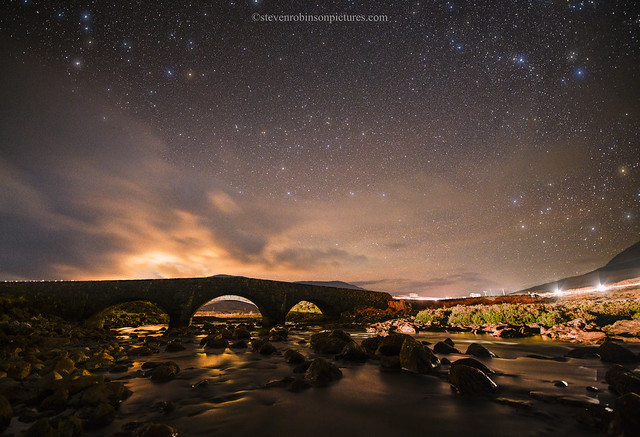 Sligachan Old Bridge under Starlight