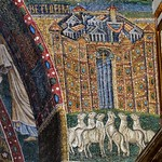 Bethlehem - apsidal arch mosaic, 5thC - Basilica Papale di Santa Maria Maggiore, Rome. - https://www.flickr.com/people/11200205@N02/