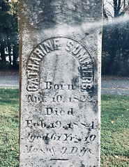 Tombstone of Catharine Summers, St. Paul's Cemetery, Myersville, Maryland, October 2020