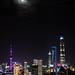 Moon over Pudong - Shanghai, China