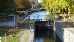 La Deûle à Lille,  Écluse de la Barre (Lille) sur la Haute-Deûle au Pont de la Citadelle