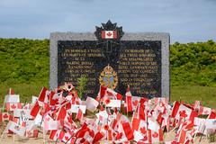 Royal Canadian Navy Memorial Marker, Juno Beach, Normandy