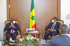 Audience Jacques ANOUMA candidat ivoirien à la présidence de la CAF