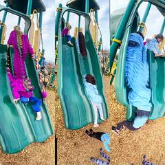 Three Siblings on the Steep Slide